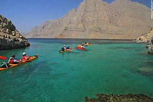 Voyage en kayak Oman : Kayak à Musandam
